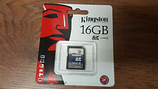 Genuine Original Kingston 16GB SD SDHC Class 4 Memory Card Camera SD4/16GB
