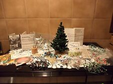 Vintage Dollhouse Accessories Miniature Christmas Decor Lot & VERY RARE TREE