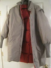 HUNTERS RUN REVERSIBLE GRAY AND RUST DOWN COAT MEDIUM