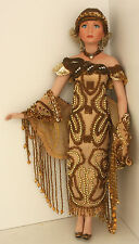 16 inch Porcelain 1920's Deco Flapper Doll Limited Edition 1999