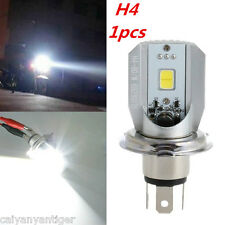 1pc H4 6000K White COB LED Hi/Lo Beam Motorcycle Headlight Front Light Bulb Lamp
