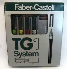 Vintage Faber-Castell 4-Pen Set w/Ink In Box with Case and Instructions