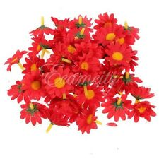 Hot Sale 4CM Gerbera Daisy Heads Artificial Silk Flower Wedding Party 50pcs