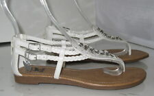 Summer NEW  WHITE  WOMEN SHOES ROMAN GLADIATOR FLAT SANDALS     SIZE   7.5