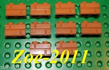 Lego Medium Nougat Brick 1x2 Masonry 10 pieces (98283) NEW!!!