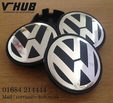 VW Alloy Wheel Centre Caps x4 65mm Golf MK5