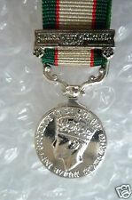 Miniature Medal & Ribbon-India General Service Medal- North West Frontier 1936-7