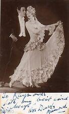 BK536 Carte Photo vintage card RPPC couple danse danseur dédicae signé robe