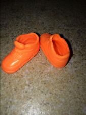 Barbie Flat Foot Neon Orange High Top Tennis Gym Athletic Shoes Laces Sneakers