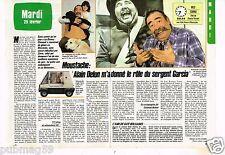 Coupure de presse Clipping 1986 (2 pages) Moustache Sergent garci Zorro