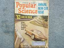 1962 POPULAR SCIENCE OCTOBER VOL 181 NO. 4 ANNUAL NEW CAR ISSUE '63 CARS DETROIT