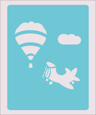Balloon Airplane Stencil Crafts Paint Color Wall Decoration  Kids Template #30