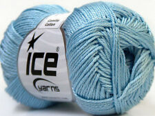 Lot of 6 Skeins Ice Yarns CAMILLA COTTON (100% Mercerized Cotton) Yarn Light ...