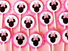30 MINNIE MOUSE Cupcake Toppers Birthday Party Favors, Baby Shower Decoration 30