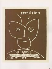 "1989 VINTAGE ""EXPOSITION VALLAURIS 1955"" SATYR PICASSO Color offset Lithograph"