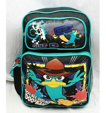 "NWT Disney Phineas and Ferb Agent P 16"" Large Backpack Bag Licensed by Disney"