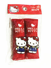 Hello Kitty Sanrio Car Accessory : 2 pieces Seat Belt Covers Shoulder Pads #Red