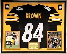 Premium Framed Antonio Brown Signed Steelers Jersey JSA COA - ben roethlisberger