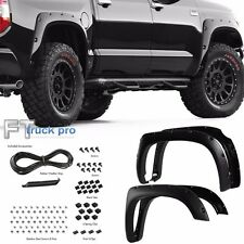 [TEXTURED] 14-16 Toyota Tundra Pocket Riveted Fender Flares Wheel Cover BLACK