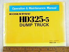 KOMATSU  HD325-5  DUMP TRUCK OPERATIONS & MAINTENANCE MANUAL 2264-UP
