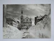 CORTINA Chiesa parrocchiale sci montagna dolomiti Belluno vecchia cartolina