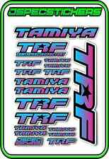 TRF TAMIYA RC STICKER REMOTE CONTROL STICKERS 418 RACING MODEL A5 R/C BLU/PINK B