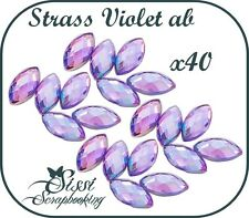 PROMO ! LOT 40 STRASS A COLLER OVALES 7 mm SCRAPBOOKING