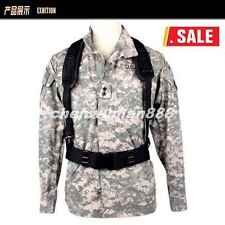 Military Fox Tactical Combat Y-Type Load Bearing Suspenders And Belt Black Drab