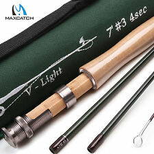 Maxcatch 3WT 7FT 4Sec Medium-Fast Graphite (IM10) Fly Fishing Rod & Rod Tube