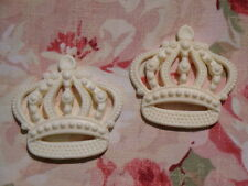 SHABBY ROYAL CROWN (2 PCS.) FURNITURE APPLIQUE ONLAY EMBELLISHMENT