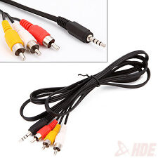 3ft. 3.5mm Plug Auxiliary AUX to 3 RCA AV Audio Video TV Cable Cord Wire Adapter