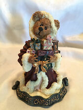 Collectible 1995 Boyds Bears GHOST OF CHRISTMAS PRESENT NOT TOO LATE MINT IN BOX