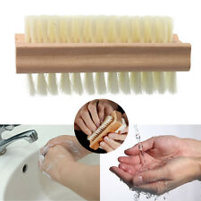 Wooden Double Sided Manicure Nail Pedicure Scrubbing Cleaning Bristles Brush