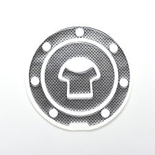 Carbon Fiber Motorcycle Oil Gas Tank Protector Pad Decal Stickers 1Pc CA07