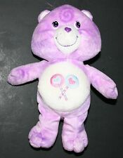 "Share Bear Care Bear Purple Heart Lollipop Symbol 10"""