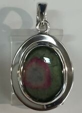 Watermelon Tourmaline Pendant 6.3 grams Sterling Silver Brazil