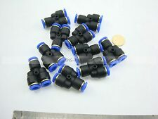 "10pcs Tubing Push In One Touch quick air Y union Fittings 5/32"" to 5/32"" OD"