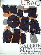 RAOUL UBAC original lithograph poster, Galerie Maeght, 1966, art print affiche
