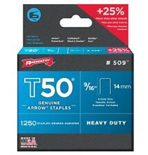 ARROW T50 HEAVY DUTY STAPLES PACK OF 1250   14mm