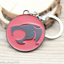 "THUNDERCATS logo Metal Red Black Key chain 2"" Round cosplay collectible"