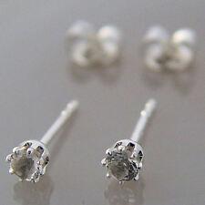 Schmuck-Michel Damen Ohrstecker Silber 925 Bergkristall 3 mm Ø (5200)