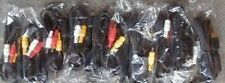 10 LOT  NEW Stereo AV RCA  A/V Cables for Nintendo Gamecube Game Cube WHOLESALE