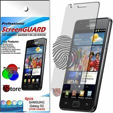 4 Pellicola Opaca Per Samsung Galaxy S2 i9100 Plus i9105 Antimpronta Display LCD