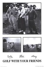 2003 THE THREE STOOGES GOLF WITH YOUR FRIENDS POSTER 24X36 FREE SHIPPING