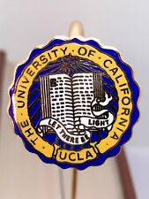 New Vintage UCLA Bookmark Cloisonné Gold Tone Metal *Classy Gift* ~L@@K~