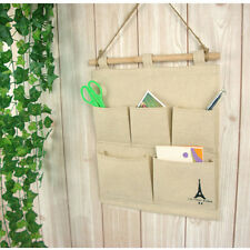 NEW 5 Pockets Closet Door Home Wall Hanging Organizer Storage Stuff Bag Pouch
