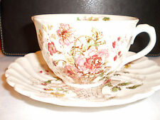 Royal Staffordshire/Newport Clarice Cliff Chelsea Rose-Multi Cup & Saucer