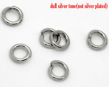 2000 PCs Silver Tone Open Jump Ring 3.5x0.7mm Wholesale SP0052