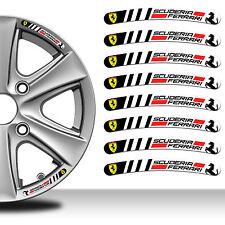 8 Ferrari Scuderia Adesivi Rim Sticker Auto Cerchi Ruota Strisce Wheel Strip C31