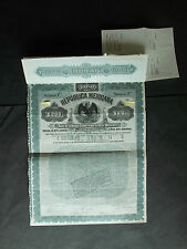 MEXICO: 5%£200- / US$970- REPUBLICA MEXICANA GOLD LOAN 1899 - NOT CANCELLED